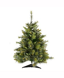 3 ft Cashmere Pine Artificial Christmas Tree Unlit