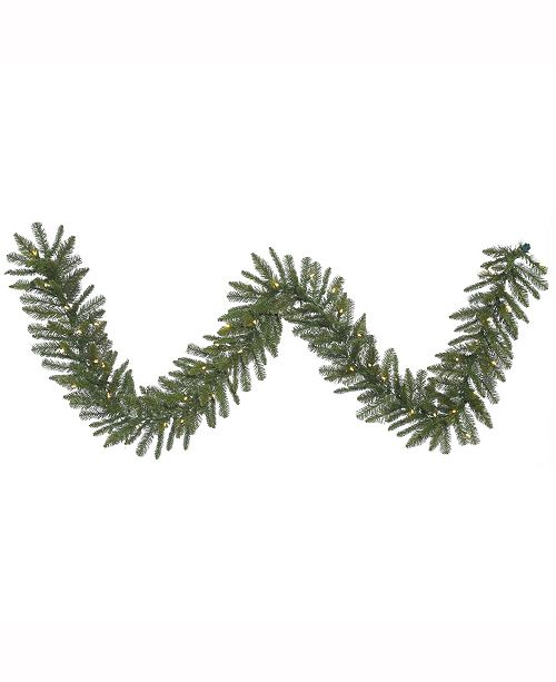 Vickerman 9 ft Durango Spruce Artificial Christmas Garland With 50 Warm White Led Lights
