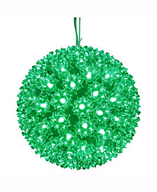 "Vickerman 7.5"" Starlight Sphere Christmas Ornament With 100 Green Wide Angle Led Lights"