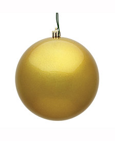 "Vickerman 8"" Gold Candy Ball Christmas Ornament"