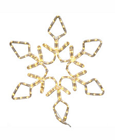 "Vickerman 24"" Diamond Snowflake Christmas Ornament With 130 Pure White Led Lights"