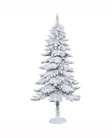 Vickerman 5' Snowy Alpine Artificial Christmas Tree