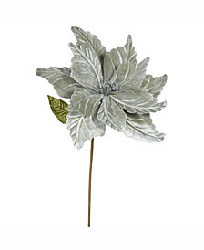 "Vickerman 22"" Pewter Poinsettia Artificial Christmas Flower"