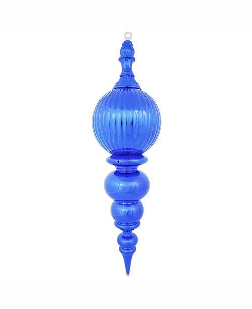 "Vickerman 28"" Blue Shiny Finial Christmas Ornament"