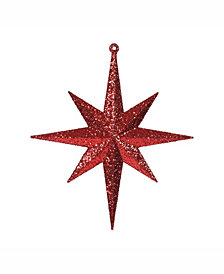 "Vickerman 8"" Red Iridescent Glitter Bethlehem Star Christmas Ornament, 4 Per Box"