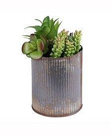 9 inch Rustic Tin Container