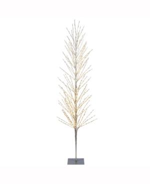 6' Tree, 560L Warm White Lights, Square Metal Base