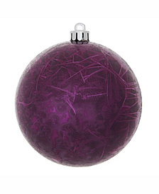 "Vickerman 6"" Plum Crackle Ball Christmas Ornament"