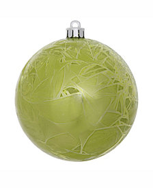 "Vickerman 8"" Lime Crackle Ball Christmas Ornament"