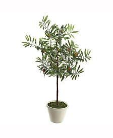 "Vickerman 27"" Artificial Green Olive Hill Tree"