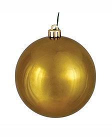 "Vickerman 8"" Olive Shiny Ball Christmas Ornament"