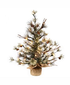 36 inch Dakota Pine Artificial Christmas Tree With 70 Clear Lights