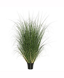 """24"""" Pvc Artificial Potted Green Curled Grass X 560"""