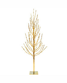 Vickerman 6' Gold Artificial Christmas Tree With 560 Warm White Led Lights