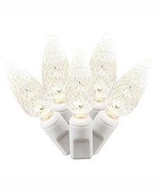 Vickerman 50 Warm White C6 Led Light On White Wire, 25' Christmas Light Strand