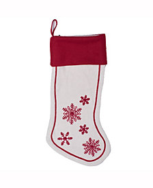 Vickerman Decorative Christmas Stocking Features Fun And Festive Felt