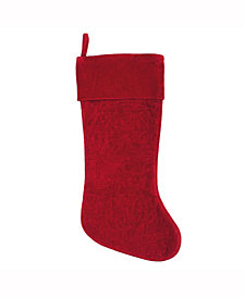 Vickerman Decorative Christmas Stocking Featuring Elegant Cotton Velvet