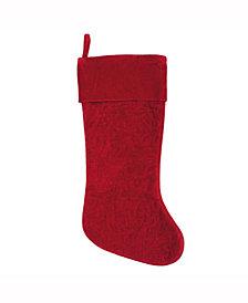 Vickerman Decorative Christmas Stocking Featuring Elegant Cotton Velvet