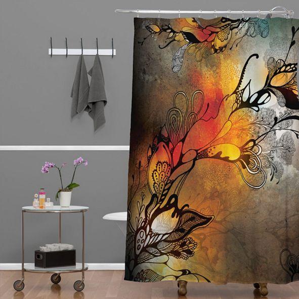 Deny Designs Iveta Abolina Cardinal Shower Curtain