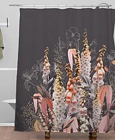Iveta Abolina Lupines Chocolate Shower Curtain