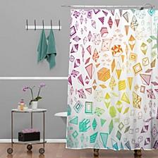 Iveta Abolina Tribal Teal Shower Curtain
