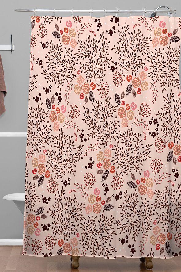Deny Designs Iveta Abolina Camellia Garden II Shower Curtain