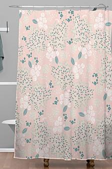 Iveta Abolina Camellia Garden III Shower Curtain