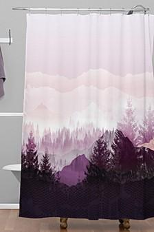 Iveta Abolina Purple Horizon Shower Curtain