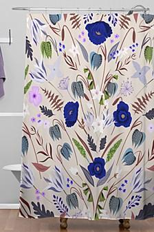 Iveta Abolina Poppy Meadow III Shower Curtain