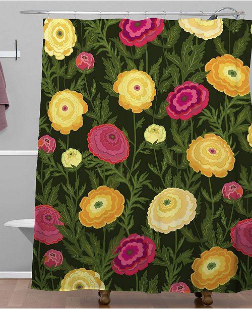 Deny Designs Iveta Abolina Ranunculus Love Shower Curtain