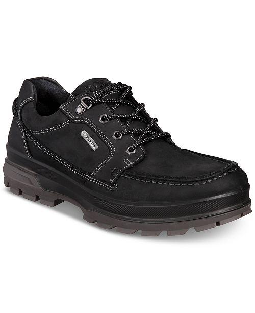 7807f7647 Ecco Men's Rugged Track GTX Moc Toe Waterproof Leather Oxfords ...