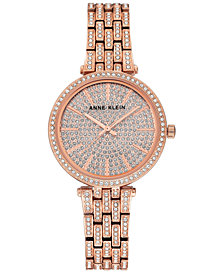 Anne Klein Women's Rose Gold-Tone Bracelet Watch 32mm
