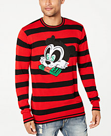 Reason Men's Money Cat Striped Sweater