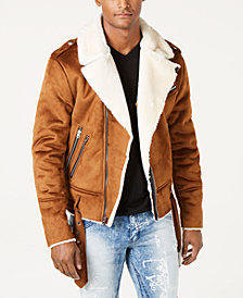 Reason Men's Faux Suede Fleece Lined Jacket
