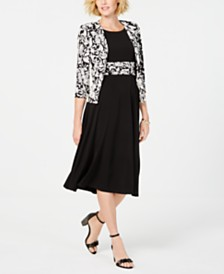 Jessica Howard Printed Jacket & Midi Dress