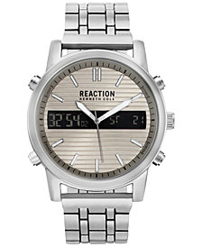 Kenneth Cole Reaction Men's Analog-Digital Silver-Tone Bracelet Watch 44mm