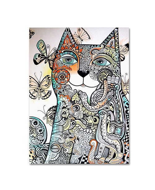 "Trademark Global Oxana Ziaka 'Ireland Cat' Canvas Art - 19"" x 14"" x 2"""