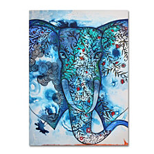 Oxana Ziaka 'Blue Elephant' Canvas Art Collection