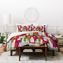 Deny Designs Holli Zollinger Abstract City Twin Duvet Set