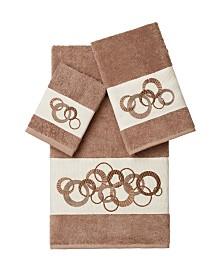 Linum Home Annabelle 3-Pc. Embellished Towel Set