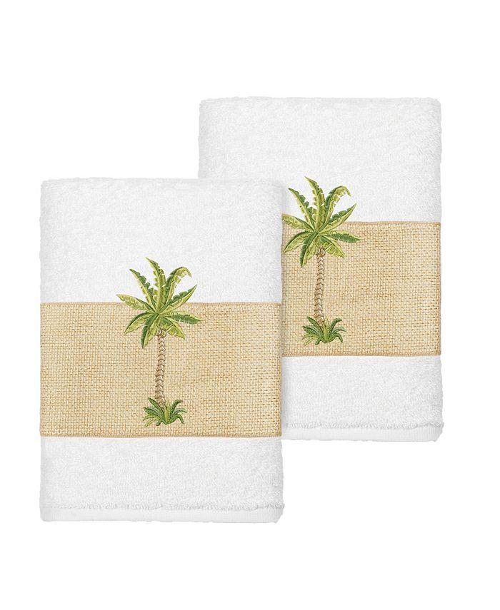 Linum Home - COLTON 2PC Embellished Washcloth Set