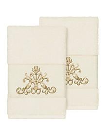 Scarlet 2-Pc. Embellished Hand Towel Set