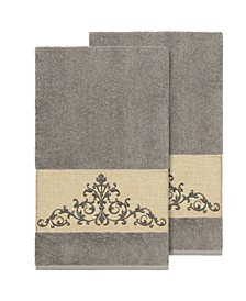 Scarlet 2-Pc. Embellished Bath Towel Set