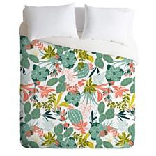Deny Designs Heather Dutton Succulent Garden White Twin Duvet Set