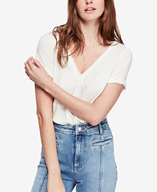 Free People All You Need Gathered-Back T-Shirt