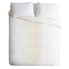 Holli Zollinger Gold Honeycomb King Duvet Set