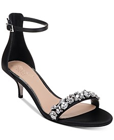 Dash Kitten-Heel Evening Sandals