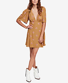 Free People Mockingbird Open-Back Mini Dress