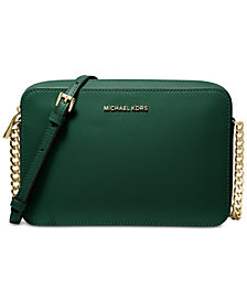 MICHAEL Michael Kors Jet Set East West Crossgrain Leather Crossbody