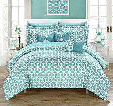 Chic Home Stefanie 10 Piece King Bed In a Bag Comforter Set